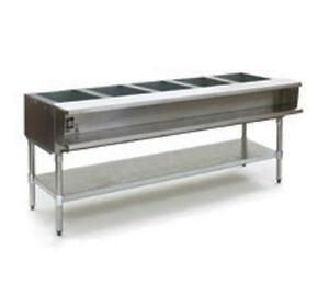 Eagle Group Awtp5 5 well Gas Steam Table W Galvanized Shelf Safe Pilot