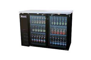 Migali C bb48g hc Migali 48 2 Glass Door Back Bar Cooler