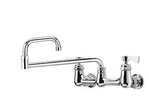 Krowne Metal Royal 18 Double Jointed Spout Faucet 8 Wall Mount Low Lead