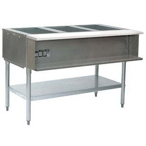 Eagle Group Awt3 lp 1x 3 well Water Bath Steam Table 48 Lp Gas