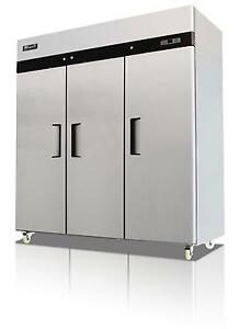 Migali C 3f 72 Cu ft Stainless Steel Reach In Freezer Three Solid Doors