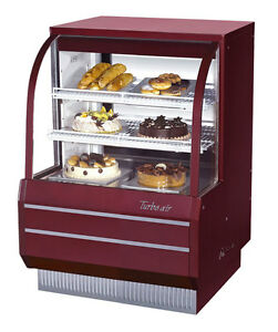 Turbo Air 36 5 Curved Glass Non refrigerated Dry Bakery Display Case Tcgb 36 dr