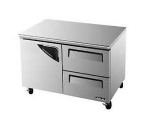 Turbo Air 48 Undercounter 12 Cu ft Freezer 2 Drawers Tuf 48sd d2