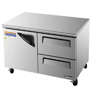 Turbo Air 48 Undercounter Cooler Refrigerator 2 Drawer Tur 48sd d2