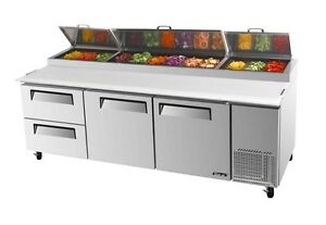 Turbo Air 93 Pizza Prep Table 12 Pans 2 Cooler Drawers Tpr 93sd d2