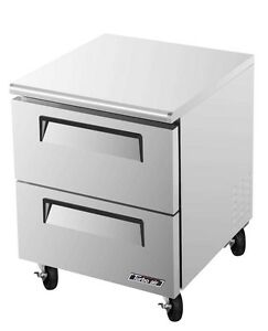 Turbo Air 28 Undercounter 7 Cu ft Freezer W 2 Drawers Tuf 28sd d2