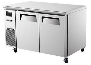 Turbo Air 48 Side Mount Undercounter Freezer 2 Swings Doors Juf 48