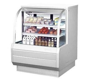 Turbo Air 48 5 Curved Glass High Profile Deli Case Cooler 2 Shelves Tcdd 48 2 h