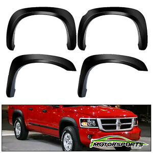 2005 2011 Dodge Dakota Black Factory Style Front Rear 4pcs Fender Flares