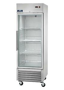 Arctic Air Agr23 23cuft Single Glass Door Reach in Refrigerator