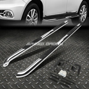 For 13 17 Nissan Pathfinder Chrome Stainless 3 Side Step Nerf Bar Running Board