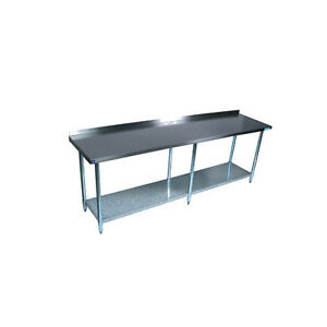 Bk Resources Vttr 1896 96 wx18 d Economy Stainless Steel Work Table
