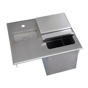 Bk Resources 21 w Stainless Steel Drop in Ice Bin With Water Station
