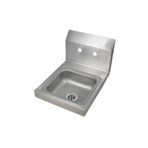 Bk Resources Bkhs w ss Space Saver Wall Mount Hand Sink Without Faucet