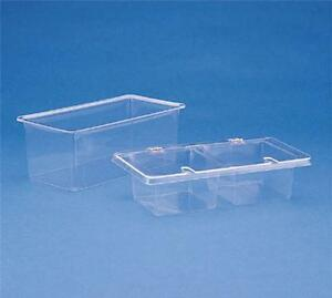 Spill stop 151 02 Three Pint Acrylic Condiment Container Two Compartment