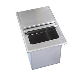 Bk Resources Bk dibl 2218 22 wx18 dx14 3 8 d Stainless Steel Drop in Ice Bin