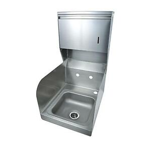 Bk Resources Space Saver Wall Mount Hand Sink W towel Dispenser No Faucet
