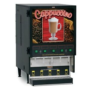 Bunn 34900 0000 Hot Cappuccino Beverage Dispenser With 5 Hoppers