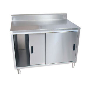 Bk Resources Bkdcr5 3072s 72 w X 30 d Stainless Steel Cabinet Base Work Table