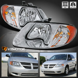 Fits 2001 2007 Dodge Caravan Chrysler Town Country Clear Headlights Left Right