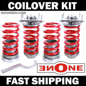 Mookeeh Mk1 Coilover Kit Front Camber Plates 05 10 Mustang V6 Gt Coilovers