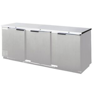 Beverage air 72 Solid Door Back bar Refrigerator Stainless Exterior