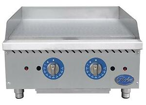 Globe Gg24tg 24 Counter Top Natural Gas Griddle W Thermostatic Controls