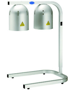 Globe Wl2 Chefmate Countertop Food Warming Lamp 500 Watt Bulb Type