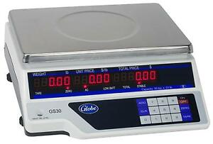 Globe Gs30 30lb Capacity Price Computing Scale With 11 75 x8 75 Plate