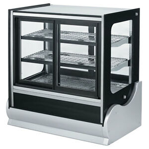 Vollrath 40889 60 Cubed Glass Cooler Display Case W Front Rear Access
