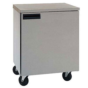 Delfield 407 ca 5 7 Cu ft 27 Shallow Depth Undercounter Freezer W Casters