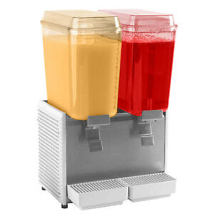 Gmcw D25 4 Beverage Drink Dispenser With Twin 5 Gallon Bowls