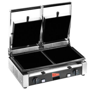 Gmcw Tsg2f Double Flat Panini Grill Sandwich Quesadilla Press