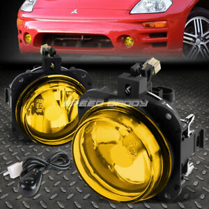For 02 05 Mitsubishi Eclipse 04 08 Galant Amber Lens Fog Light Lamps W Switch