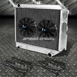 3 Row Aluminum Radiator 2x 10 Fan Black For 62 67 Chevrolet Chevy Ii Nova L6 V8