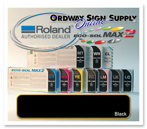 New Black Original Oem Roland Eco sol Max2 Ink 440ml Cartridge