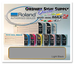 New Light Black Original Oem Roland Eco sol Max2 Ink 440ml Cartridge
