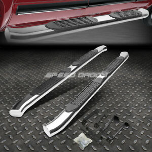 For 02 09 Dodge Ram Truck Crew 4 Chrome Curved Oval Step Nerf Bar Running Board