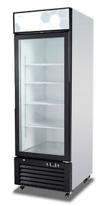 Migali C 23rm hc 23 Cu ft Ss Reach in Refrigerator One Hinged Glass Door