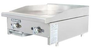 Radiance Tamg 24 24 Commercial Gas Flat Griddle Counter Top Manual Controls