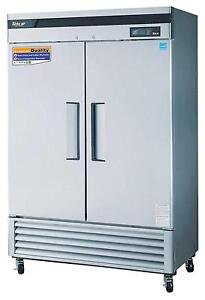 Turbo Air 49 Cu ft Reach In Freezer 2 Solid Door Tsf 49