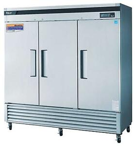 Turbo Air 63 8 Cu ft 3 Solid Door Commercial Freezer Tsf 72sd