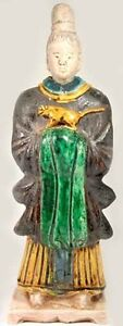 1600ad Antique Ming China X Large Glazed Multi Color Sancai Statuette W Tiger