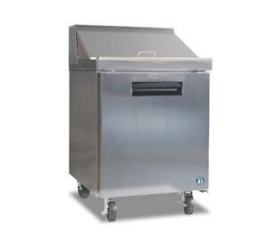 Hoshizaki Crmr27 8 7 2cuft One Door Sandwich Top Reach in Refrigerated Counter