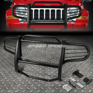 For 02 07 Jeep Liberty Kj Suv Black Coated Mild Steel Front Bumper Grill Guard