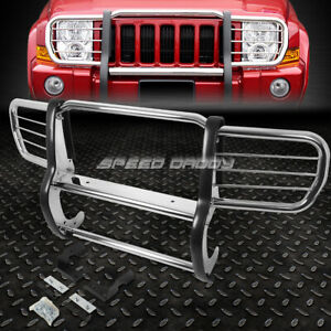 For 06 10 Jeep Commander Xk Suv Chrome Stainless Steel Front Bumper Grill Guard