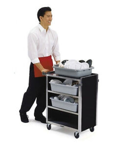 Lakeside 615 16 1 2 x27 3 4 x32 3 4 Stainless Steel Bussing Cart
