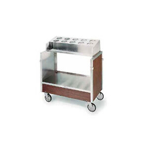 Lakeside 603 Stainless Steel Angle Frame Tray Silver Cart