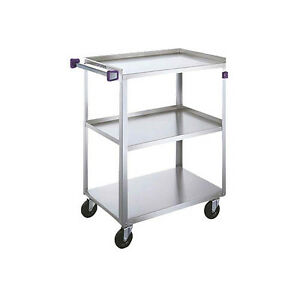 Lakeside 411a 16 3 4 x27 5 8 x32 3 tier Stainless Steel Utility Cart
