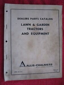 1966 Ac Allis Chalmers Lawn Garden Tractors Attachments Parts Catalog Manual